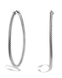 David Yurman - Metallic 'cable Classics' Extra-large Hoop Earrings - Lyst