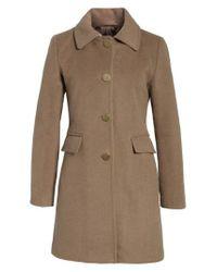 Tahari - Brown Sophia Wool A-line Coat - Lyst