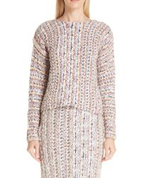 Adam Lippes - Multicolor Tweed Sweater - Lyst
