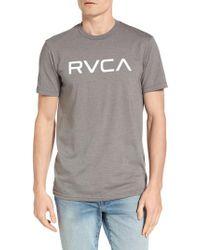 RVCA - Gray Big Graphic T-shirt for Men - Lyst