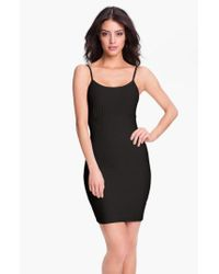 Spanx - Black Spanx 'spoil Me Cotton' Shaping Slip - Lyst