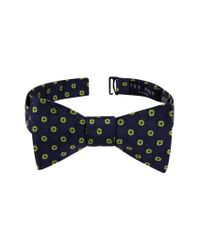 Ted Baker - Blue Medallion Silk Bow Tie for Men - Lyst