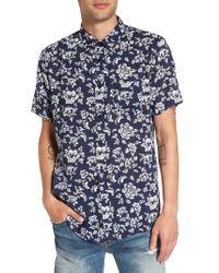 Imperial Motion - Blue Havanna Trim-fit Woven Shirt for Men - Lyst