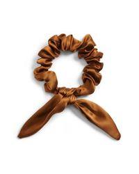Donni Charm - Brown Chiquita Silk Scrunchie - Lyst