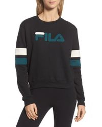 Fila - Black Newton Sweatshirt - Lyst