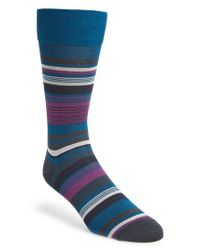 Calibrate | Blue Stripe Socks for Men | Lyst