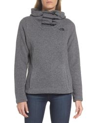 The North Face - Gray Crescent Hoodie - Lyst