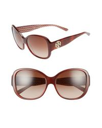 Tory Burch | Brown 56mm Gradient Retro Sunglasses | Lyst