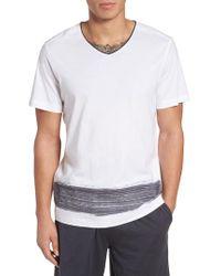 Daniel Buchler | Gray Pima Cotton V-neck T-shirt for Men | Lyst