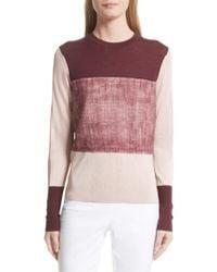 Rag & Bone - Pink Marissa Colorblock Sweater - Lyst