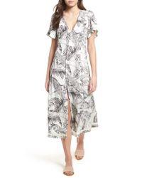 Somedays Lovin Gray Taking Flight Midi Dress