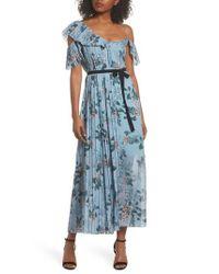 French Connection - Blue Kioa Asymmetric Maxi Dress - Lyst