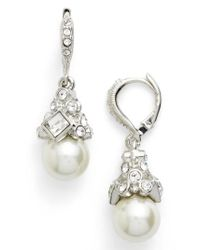 Givenchy - Metallic Imitation Pearl Drop Earrings - Lyst