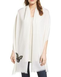 Badgley Mischka | White Butterfly Wrap | Lyst