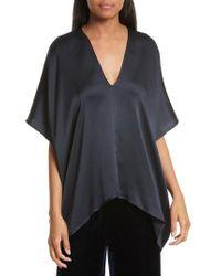 Nili Lotan - Blue Citrine Hammered Silk Top - Lyst