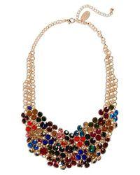 Natasha Couture - Multicolor Crystal Bib Necklace - Lyst