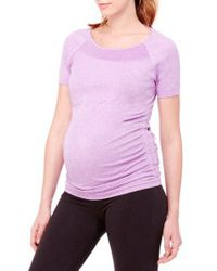 Ingrid & Isabel - Purple Ingrid & Isabel Active Ruched Maternity Top - Lyst