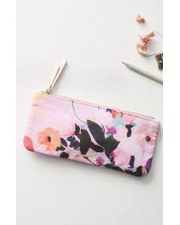 Anthropologie - Pink Picturesque Florals Pencil Pouch - Lyst