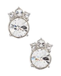 Givenchy - Metallic Crystal Button Earrings - Lyst