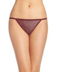 a85d9f32637b Lyst - CALVIN KLEIN 205W39NYC Id Sheer Marquisette Thong in Purple