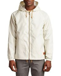 Brixton - Natural Claxton Water Repellent Hooded Windbreaker for Men - Lyst