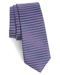 Calibrate   Purple Brewer Stripe Silk Tie for Men   Lyst
