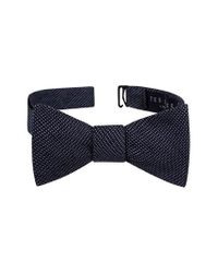 Ted Baker - Blue Pin Dot Silk Bow Tie for Men - Lyst