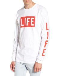 Altru | White Life Logo Long Sleeve T-shirt for Men | Lyst