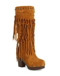 Ariat - Brown Music Row Fringe Boot - Lyst