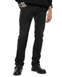 DIESEL Black Diesel Safado Slim Straight Leg Jeans for men