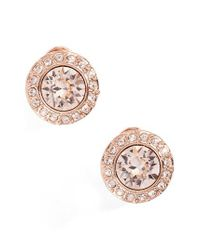 Givenchy | Metallic Crystal Button Stud Earrings | Lyst