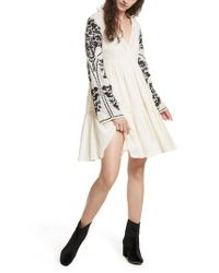 Free People | White Emerald City Shift Dress | Lyst