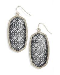 Kendra Scott | Metallic Danielle Large Openwork Statement Earrings | Lyst