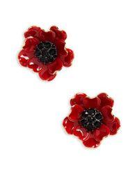 Kate Spade | Red Precious Poppies Stud Earrings | Lyst