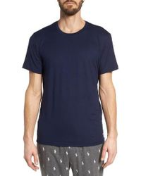 Polo Ralph Lauren - Blue Therma Sleep Crewneck T-shirt for Men - Lyst