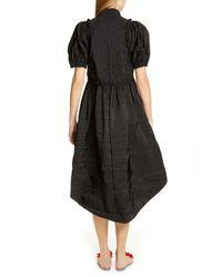 Simone Rocha - Black Mandarin Collar Babydoll Dress - Lyst