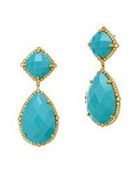 Freida Rothman - Blue 'metropolitan' Stone Drop Earrings - Lyst