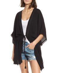Treasure & Bond - Black Shimmer Kimono - Lyst