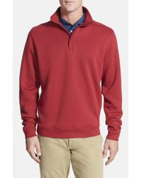 Cutter & Buck - Red 'decatur' Pima Cotton Pullover for Men - Lyst
