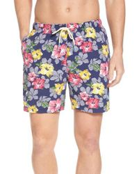 Tommy Bahama - Blue Naples Hibiscus High Line Swim Trunks for Men - Lyst