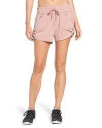 Zella - Pink Switchback Shorts - Lyst