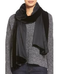 Eileen Fisher - Black Velvet Wrap - Lyst