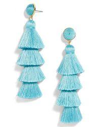 BaubleBar - Blue Granita Beaded Tassel Earrings - Lyst
