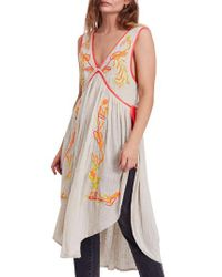 Free People - Multicolor Summer Lovin' Embroidered Tunic - Lyst