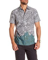 Perry Ellis - White Men's Luau Colorblocked Floral-print Shirt for Men - Lyst