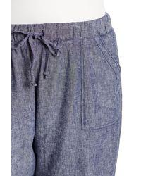 Joe Fresh - Blue Linen Blend Joggers (plus Size) - Lyst
