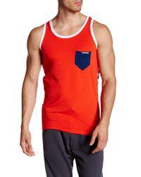 DIESEL - Red Simon Tank for Men - Lyst