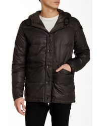 DIESEL | Black Wikesh Faux Fur Trim Hooded Jacket for Men | Lyst