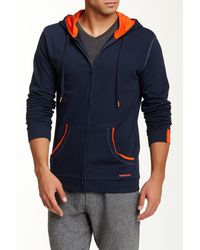 DIESEL | Blue Brandon Z Hooded Sweatshirt for Men | Lyst