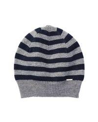 DIESEL | Gray Grofys Stripe Knit Beanie | Lyst